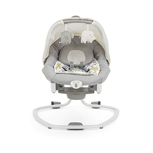 Joie Mothercare Haven Serina Deluxe 2 in 1 Musical Baby Swing Rocker - Urban Safari