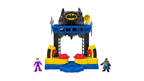 Imaginext FKW12 Battle Bat Cave with Batman and Joker Figures and 4 Additional Accessories for Imaginative Play, Suitable From 3 Year Old