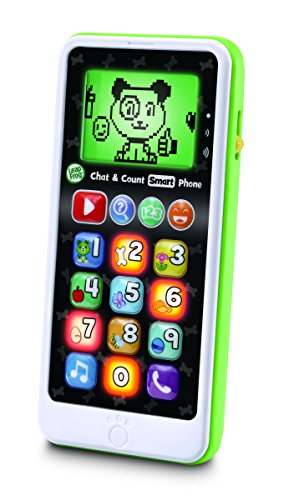 Leapfrog Chat and Count Smart Phone, Scout, Kids Mobile Phone, Educational Toy, Baby Sensory Play, Gift for Children Aged 18 Months, 1, 2, 3, 4 Years, Multicolour