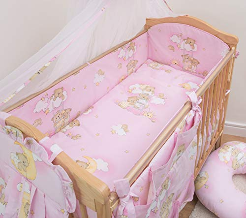 6 Pcs Nursery Baby Cot Bed Bedding Set, All-Round Bumper 420cm, 140x70cm - Pattern 5