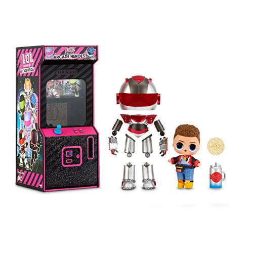 LOL Surprise Boys Arcade Heroes – Action Figure Doll - With 15 Surprises, 6 Piece Hero Suit and Accessories
