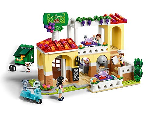 LEGO 41379 Friends Heartlake City Restaurant Pizzeria Set with 3 Mini Dolls, Scooter and 2 Cat Figures
