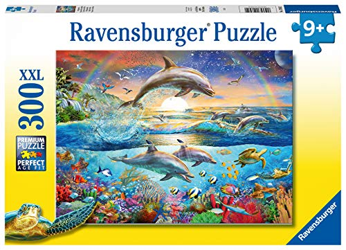 Ravensburger 12895 Dolphin Paradise 300 Jigsaw Puzzle with Extra Large Pieces for Kids Age 9 Years and up