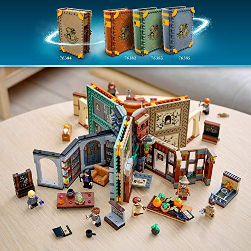 LEGO 76384 Harry Potter Hogwarts Moment: Herbology Class Collectible Book Toy, Travel Case, Portable Playset