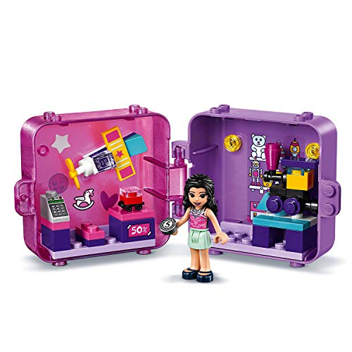 LEGO 41409 Friends Emma's Shopping Play Cube Series 2 Toy Shop, Collectible Mini Set, Portable Travel Case