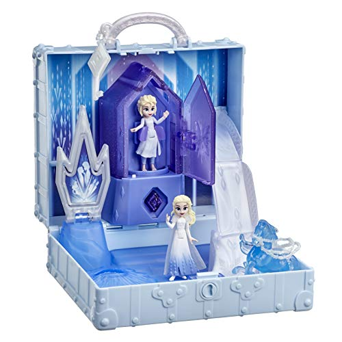 Disney Frozen 2 Pop Up Adventure Ahtohallan Adventure Playset with Handle Includes 2 Elsa Dolls Toy for Kids