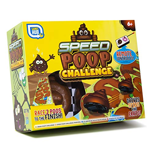 Double Remote Control Poo Challenge Game with Racing Mat