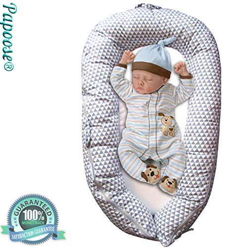 Papoose: Baby Pod Soft and Cuddly Multifunctional Portable Newborn Nest Breathable Sleeping Lounger 0-6 Months