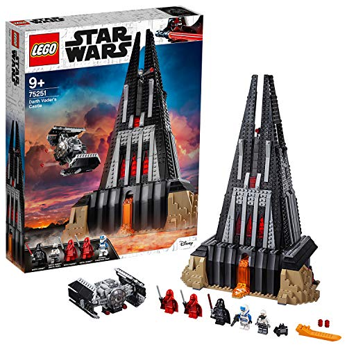 LEGO 75251 Star Wars Darth Vader's Castle, Buildable TIE Fighter, 2 x Darth Vader / Bacta Tank Minifigures, Empire Set (Exclusive to Amazon & LEGO)