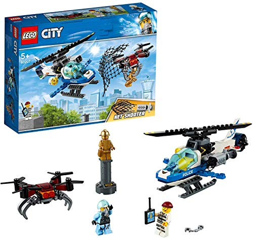 LEGO City 3 In 1 Triple Bundle Pack 66643 - Sky Police Drone Chase 60207 + Dock Side Fire Boat 60213 + Construction Loader 60219.