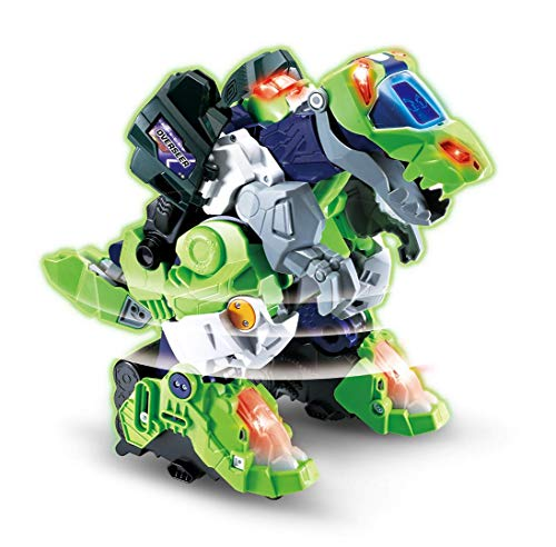 VTech Switch & Go Dinos Overseer the T-Rex Kids Toy, Interactive Preschool Dinosaur Toy that Switches Into a Robot, Educational Toy for Children Boys & Girls 3, 4, 5, 6+ Year Olds