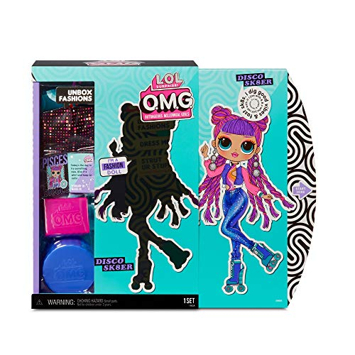 LOL Surprise Collectable Fashion Dolls for Girls - With 20 Surprises and Accessories - Roller Chick - OMG Series 3