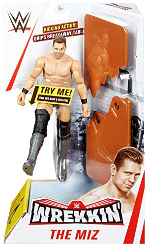 WWE MATTEL GGP03 WWE Wrekkin' 6-inch The Miz Action Figure with Wreckable Accessory, Multicoloured