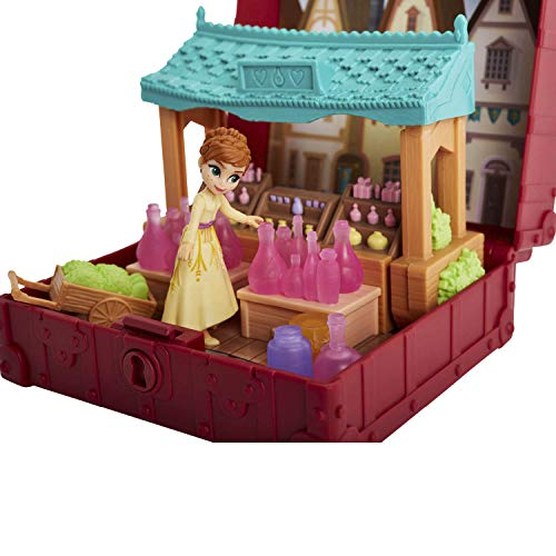 Disney Frozen Pop Adventures Village Set Pop-Up Playset With Handle, Including Anna Small Doll Inspired by Disney Frozen 2 Movie - Toy for Kids Ages 3 and Up