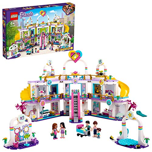 LEGO 41450 Friends Heartlake City Shopping Mall Building Set with 5 Shops, 4 Minidolls, Microdoll Henry and Baby Figure