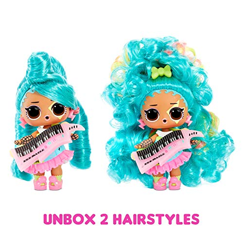 LOL Surprise Remix Hair Flip Dolls – Collectable - 15 Surprises - With Hair Reveal, Accessories and Music