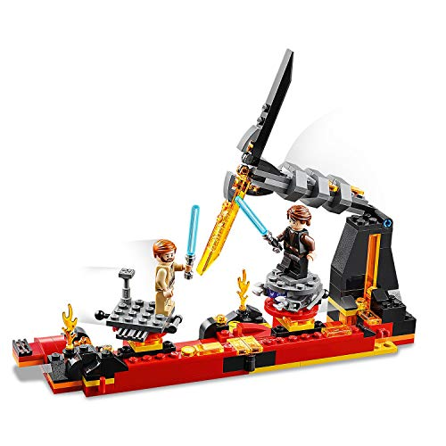 LEGO 75269 Star Wars Duel on Mustafar Revenge of the Sith Playset, with Anakin Skywalker and Obi-Wan Kenobi Minifigures