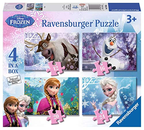 Ravensburger Disney Frozen - 4 in Box (12, 16, 20, 24 piece) Jigsaw Puzzles for Kids age 3 years and up