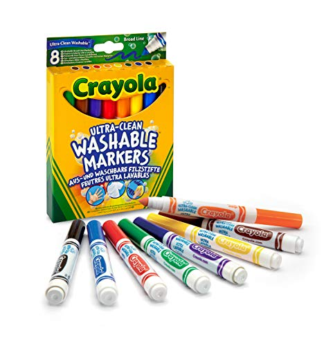 CRAYOLA Crayola 58-8328-E-000 Ultra-Clean Washable Markers Assorted