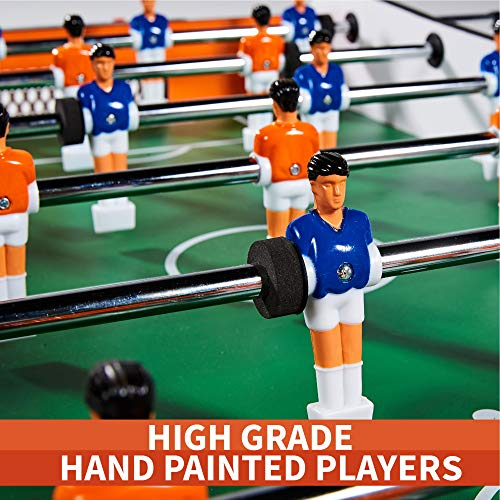 Foosball Tabletop Games and Accessories, Mini Size - Fun, Portable, Fooseball Soccer Tabletops Soccer for Adults, Kids - Recreational Hand Soccer for Game Rooms, Arcades, Bars, Family Night