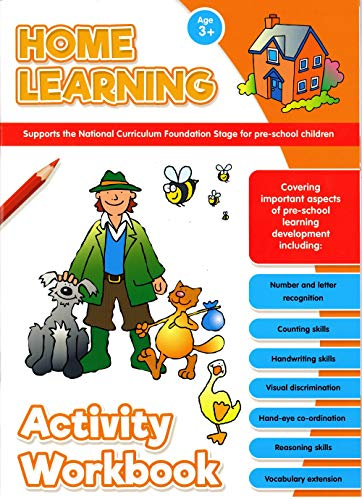 Alligator Pack of 4 Home Learning National Curriculum Activity Workbooks Maths Literacy Handwriting Childrens Pre-School Books