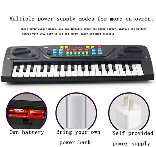YUY Electronic Organ, Children's Keyboard, Educational Toy, Rechargeable Portable Musical Electronic Karaoke For Beginner Kids Adult