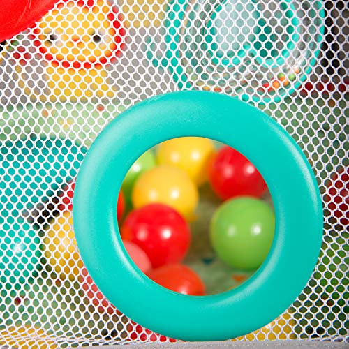 Bright Starts 5-in-1 Your Way Ball Play, Mat & Activity Gym with 35 Balls, 12 Toys and 20 Minutes of Lights and Music, green