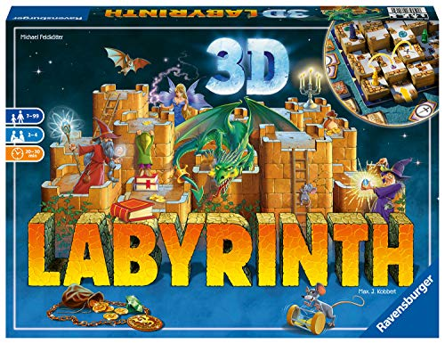 Ravensburger 3D Labyrinth - Moving Maze Family Board Game for Kids and Adults Age 7 Years and Up