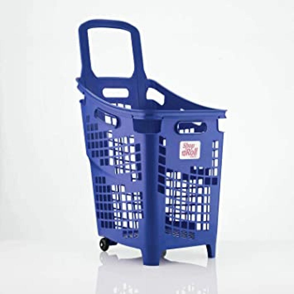 Trolley Basket, 2 Wheels - 65 Litre In Solid Colour
