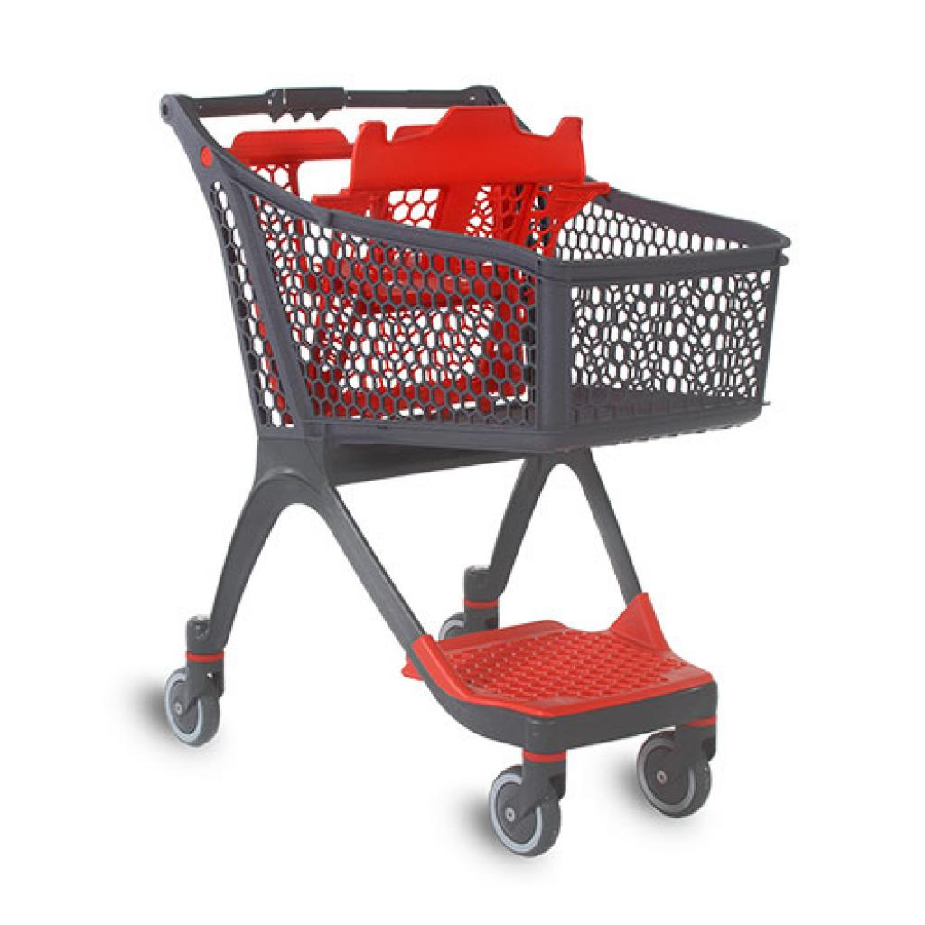 Shopping Trolley - Shallow Plastic Trolley (93 Litres)