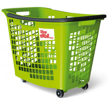 Load image into Gallery viewer, Trolley Basket, 4 Wheels - 55 Litre Black Handle