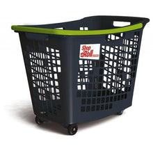 Load image into Gallery viewer, Trolley Basket, 4 Wheels - 55 Litre Coloured Handle