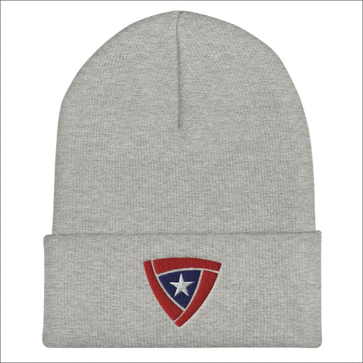 Citizen Armor Logo Embroidered Cuffed Beanie - Heather Grey