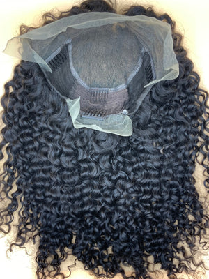 20 inch deep wave lace frontal wig *36 machine made