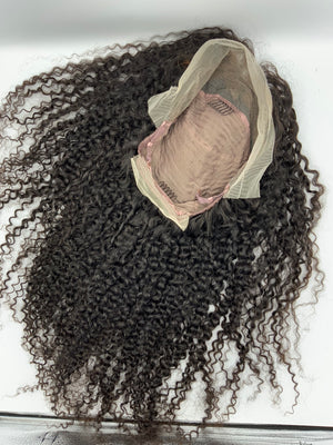 24 inch kinky curly fronal wig. *61