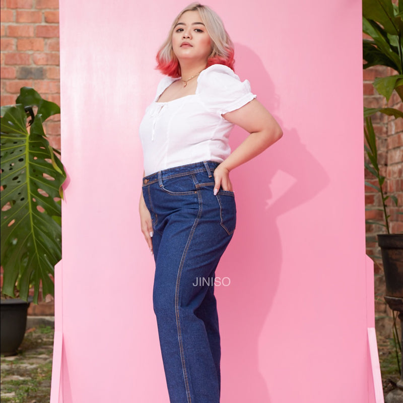 JINISO - Jumbo Highwaist Loose Jeans 8300 REAL CURVY