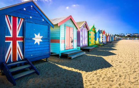 Brighton beach Lined with colourful, Victorian bathing boxes, this popular beach is located in Australia