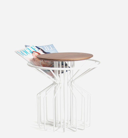 AMARANT Side Table Low - White