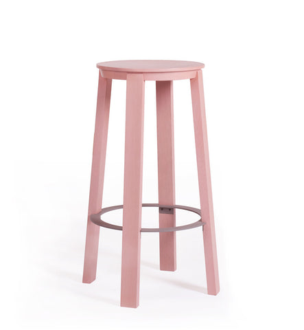 WORKER Stool Dusty Pink