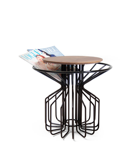 AMARANT Side Table Low - Black