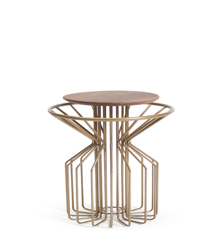 AMARANT Side Table Low - Perl Gold
