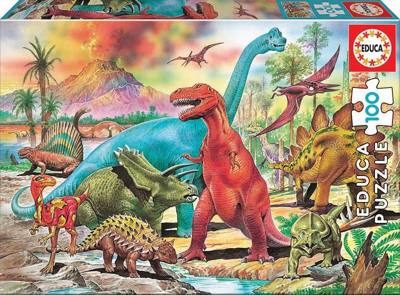Educa 100 piece DINOSAURS