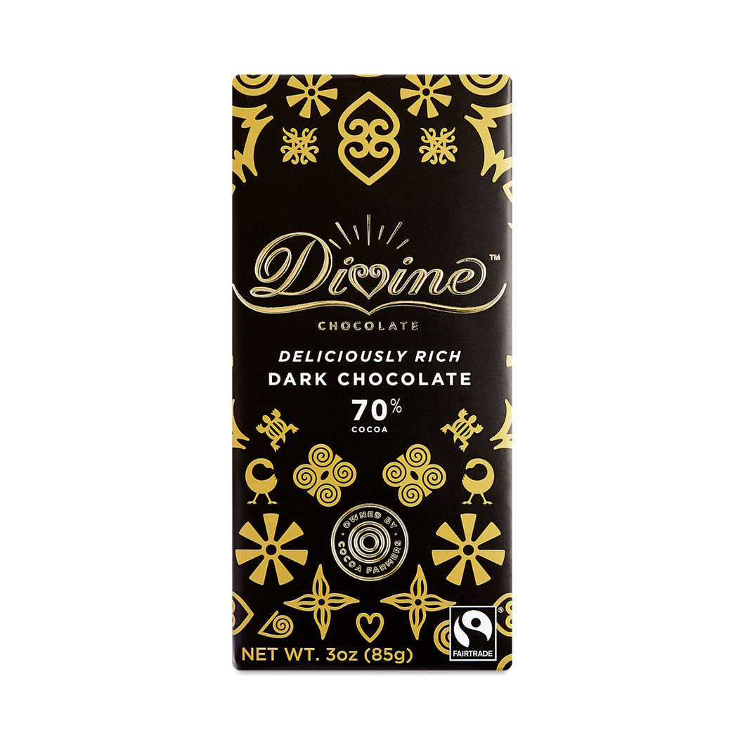 Divine Chocolate Deliciously Rich Dark Chocolate Bar