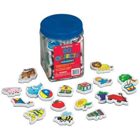Lauri 60 Piece Objects Foam Magnets