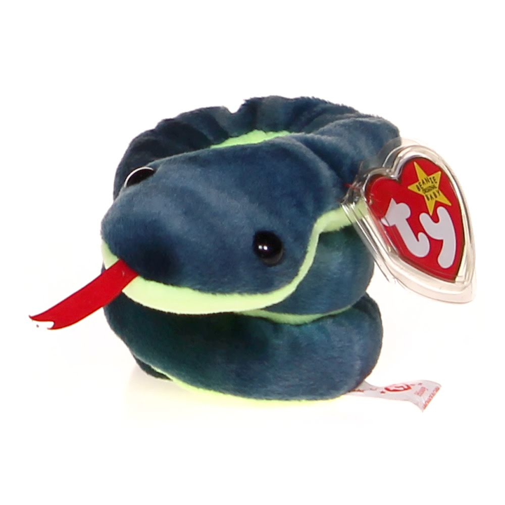 TY Beanie Babies - Hissy the Snake