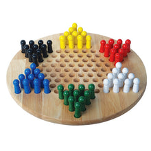 Load image into Gallery viewer, Chinese Checkers with Wood Pegs