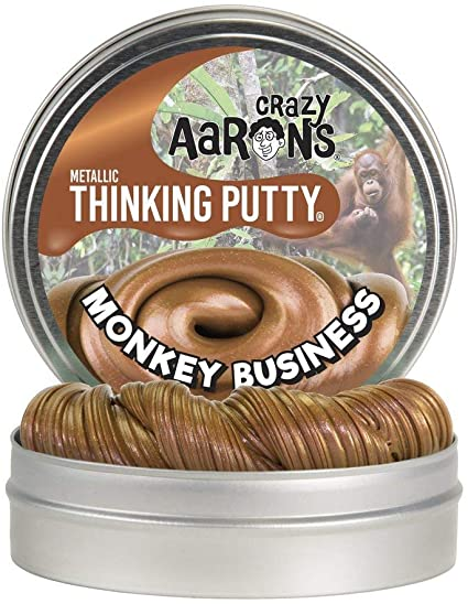 Crazy Aarons Metallic Thinking Putty - Monkey Business