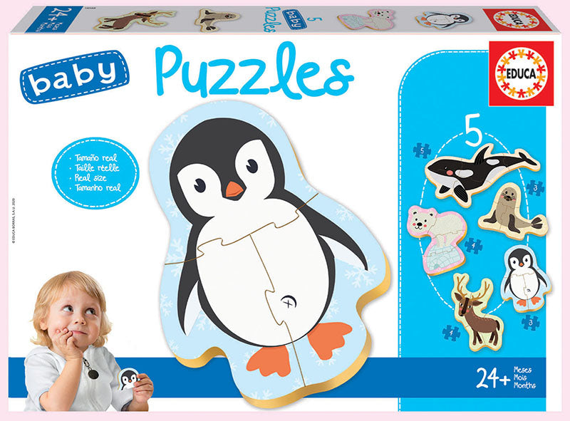 Educa BABY PUZZLES POLAR ANIMALS