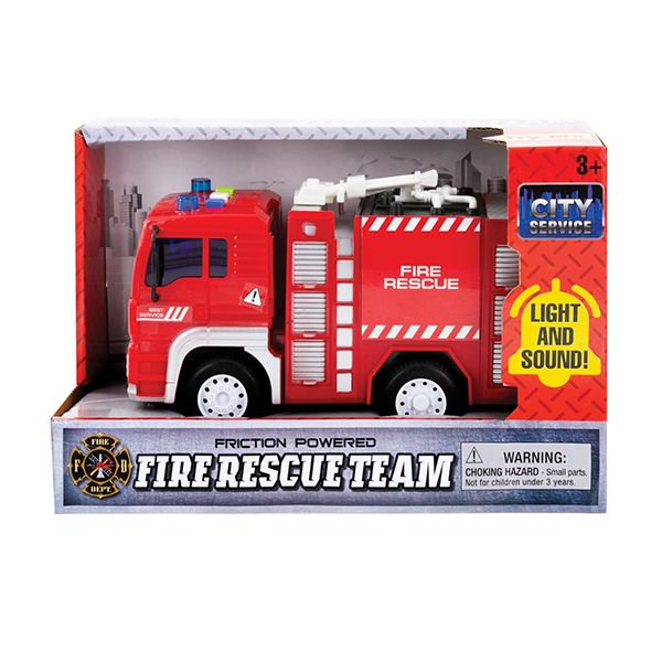Light and Sound Friction Fire Truck