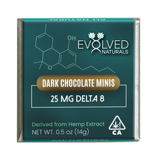 Load image into Gallery viewer, Delta 8 Chocolates - 25mg Dark Chocolate